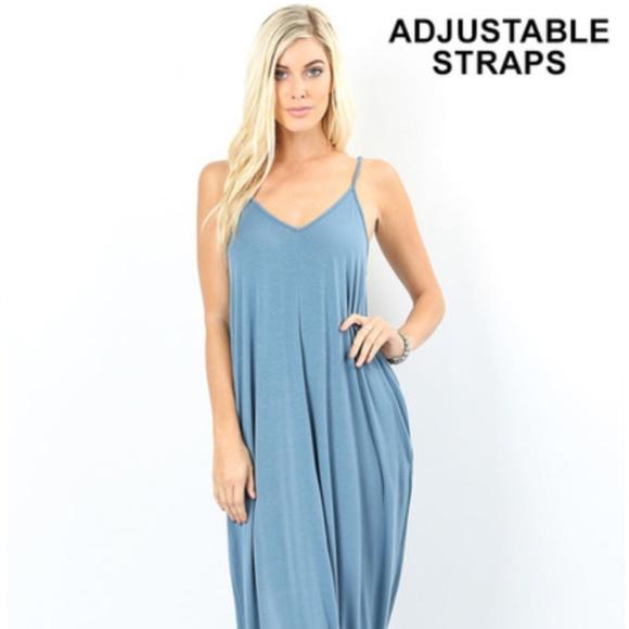 260cb34a72f Comfy Maxi Dress w  Side Pockets - Titanium. Boutique. Zenana Outfitters